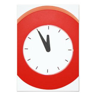 Wall Clock 13 Cm X 18 Cm Invitation Card