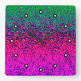 Wall Clock Bubbles Abstract Background
