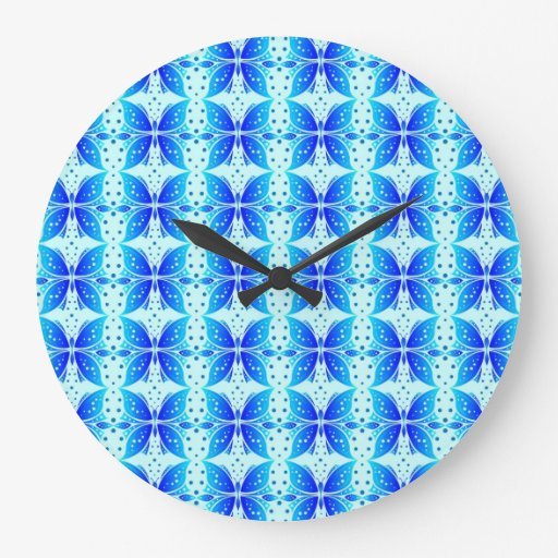 Wall Clock Butterfly Abstract Fabric