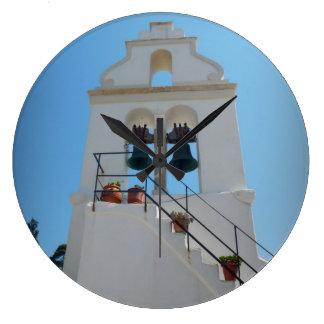 Wall clock, Corfu, Greece Large Clock