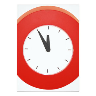 Wall Clock Personalized Invites