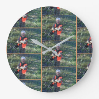 Wall clock, large, round, designer, custom large clock