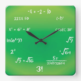 Wall Clock - Maths Pop Quiz Clock