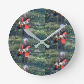 Wall clock, medium, round, designer, custom round clock
