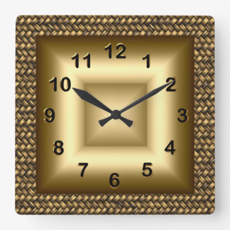 Wall Clock Metal Look Black Bronze Gold 2