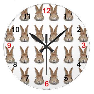 Wall clock of rabbit, No.04