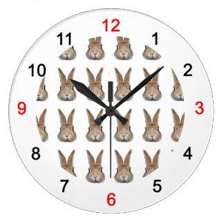 Wall clock of rabbit, No.05