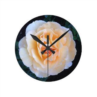 Wall Clock orange rose design