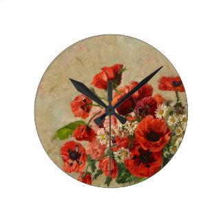 "Wall Clock ""Poppy's Time"""