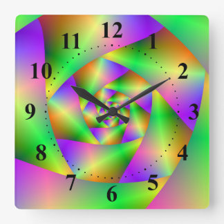 Wall Clock  Psychedelic Spiral