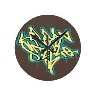 Wall clock Urban Style Graffiti