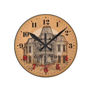Wall Clock: Victorian Mansion Wall Clock