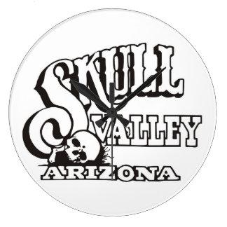 Wall Clock w/ Skull Valley, Arizona Logo
