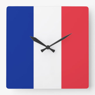 Wall Clock with Flag of France