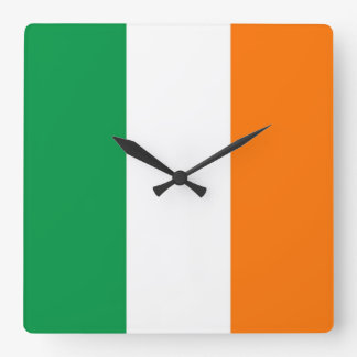 Wall Clock with Flag of Ireland