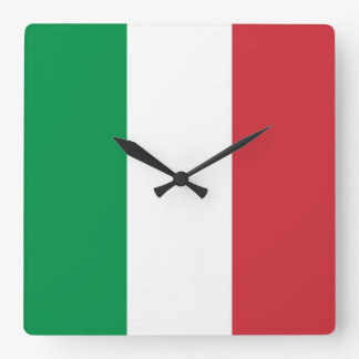 Wall Clock with Flag of Italy