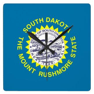 Wall Clock with Flag of South Dakota, USA