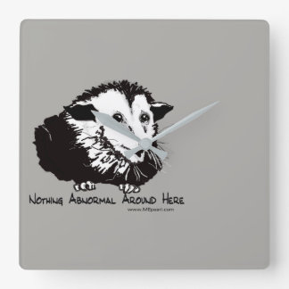 Wall Clock with Possum