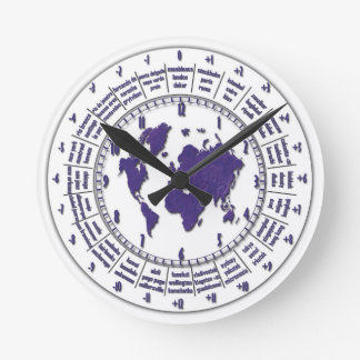 Wall Clock with Time Zones