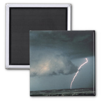 Wall cloud with lightning magnet
