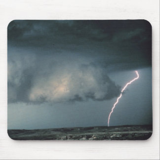 Wall cloud with lightning mouse mat