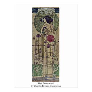 Wall Decoration By Charles Rennie Mackintosh Postcard