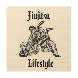 Wall decoration with Jiujitsu Lifestyle logo