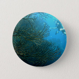 Wall dive 6 cm round badge