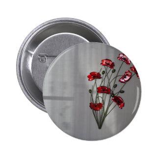 Wall flower 6 cm round badge