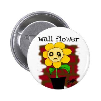 wall flower pinback button