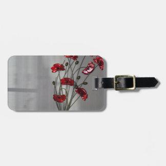 Wall flower luggage tag
