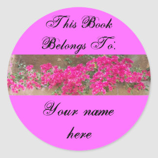 Wall Flowers, Book Plate Classic Round Sticker