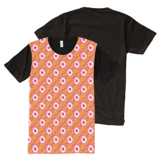 Wall Flowers on Pale Orange All-Over Print T-Shirt