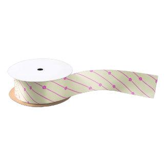 Wall Flowers Single-Side-Print Ribbon Satin Ribbon