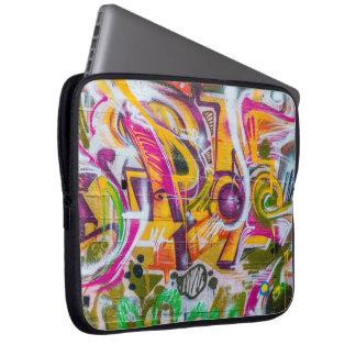 Wall graffiti art laptop sleeve