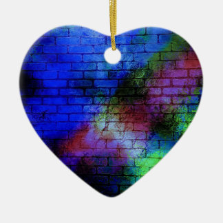 Wall Graffiti Ceramic Heart Decoration