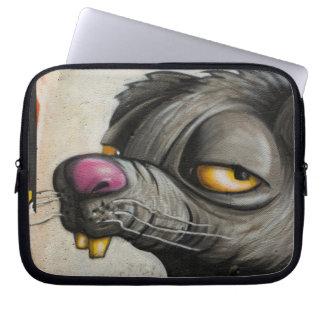 Wall Graffiti Mouse Laptop Sleeve