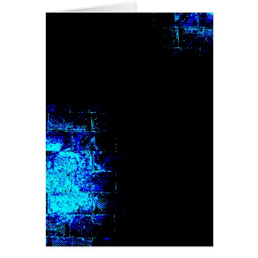 Wall Image in Blue and Black. Digital Art. Greeting Card