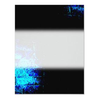 Wall Image in Blue and Black. Digital Art. Custom Invitation