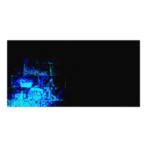 Wall Image in Blue and Black. Digital Art. Picture Card