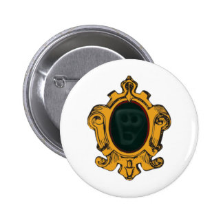 Wall mirror spirit face embankment mirror ghost fa 6 cm round badge