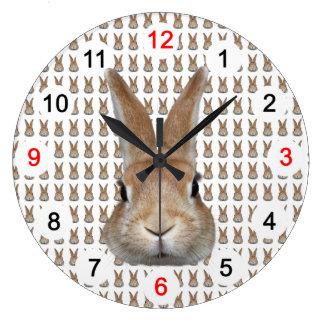 Wall-mounted clock of rabbit, No.01