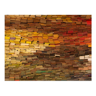 Wall of Books Postcard