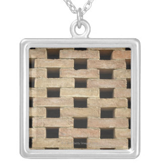 Wall of Bricks Silver Plated Necklace