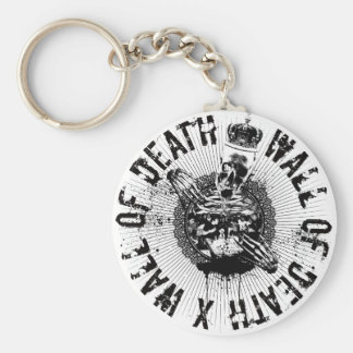 Wall of Death Basic Round Button Key Ring