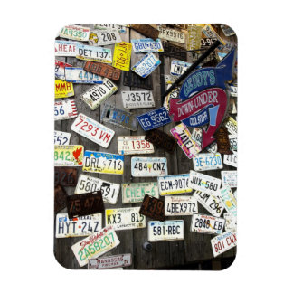 Wall of License Plates Rectangle Magnets