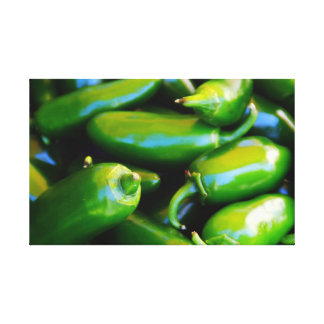 Wall of Peppers Canvas Prints