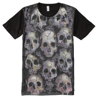 WALL OF SKULLS All-Over PRINT T-Shirt