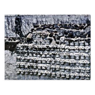 Wall Of Skulls At Templo Mayor, Mexico City Postcard
