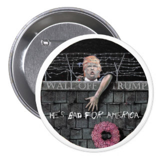Wall Off Trump 7.5 Cm Round Badge